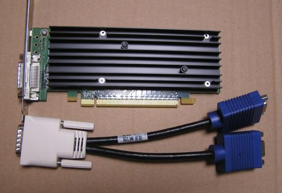 Carte graphique Nvidia NVS 290 + câble