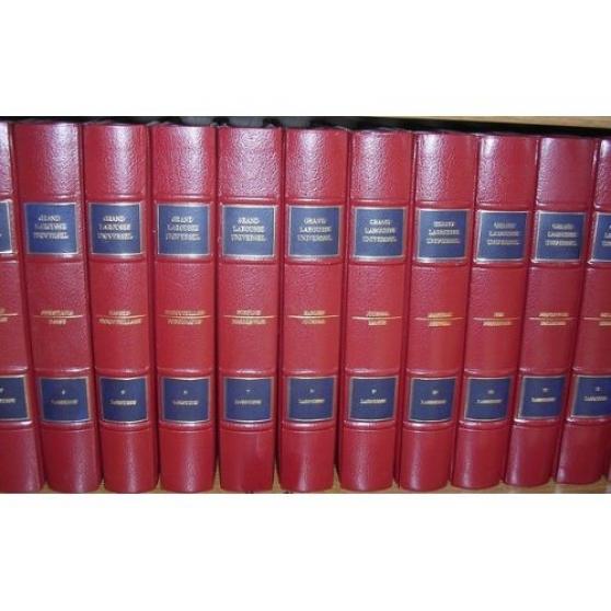 encyclopédie LAROUSSE cuir rouge