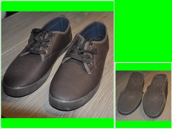 Annonce occasion, vente ou achat 'Baskets basses Marron en simili cuir'