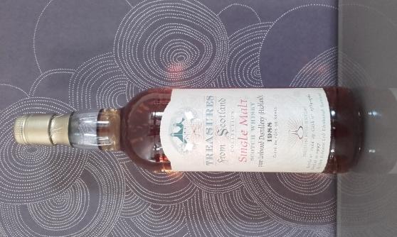 Annonce occasion, vente ou achat 'whisky TREASURE SINGLE MALT 9 ANS'