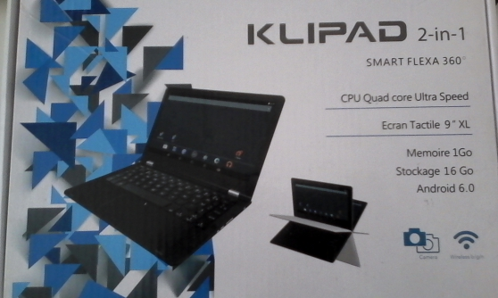 Tablette KLIPAD 2 en 1, à réparer