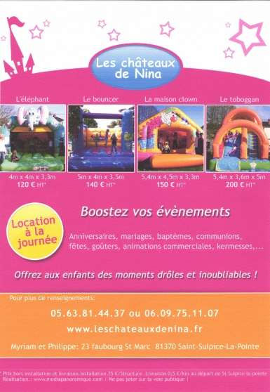chateaux gonflables
