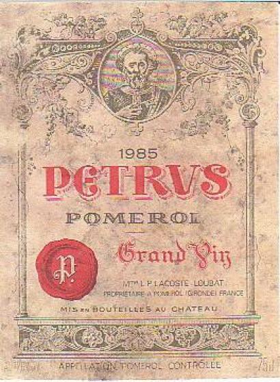 Vend 6 bouteilles de vins CHATEAU PETRUS