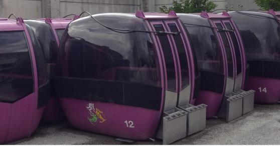 Télécabine cabine ski téléphérique