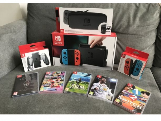 Nintendo switch complète avec tout les a