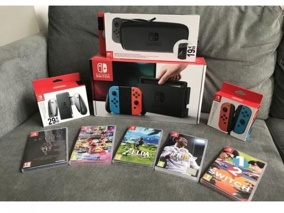 Annonce occasion, vente ou achat 'Nintendo switch complète avec tout les a'