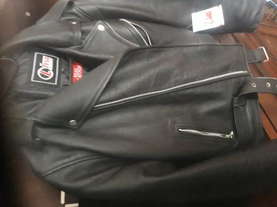 Blouson cuir noir - Photo 2