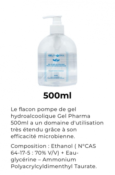 Annonce occasion, vente ou achat 'GEL HYDROALCOOLIQUE - MADE IN FRANCE'