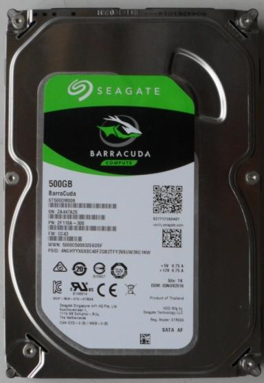Seagate ST500DM009 Disque dur interne