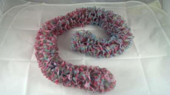 Echarpe en laine tricotée main 016