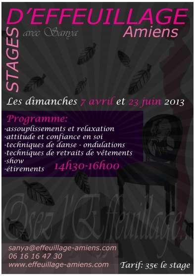 Stages d' EFFEUILLAGE à Amiens