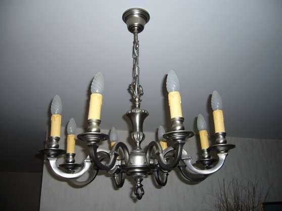 lustre rustique en tain 8 branches meubles d coration lampes spot lampe huile mont st. Black Bedroom Furniture Sets. Home Design Ideas