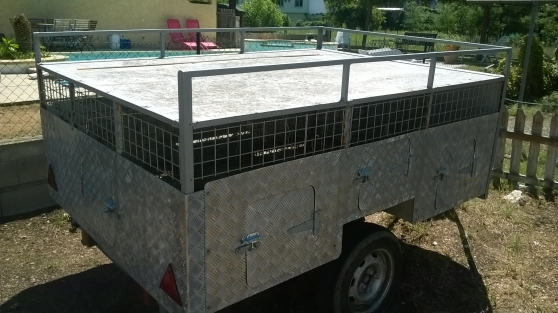 Remorque transport chiens