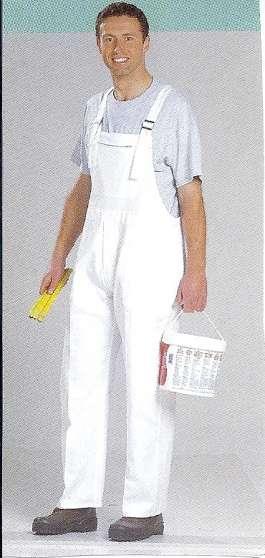 Cotte à bretelles coton blanc