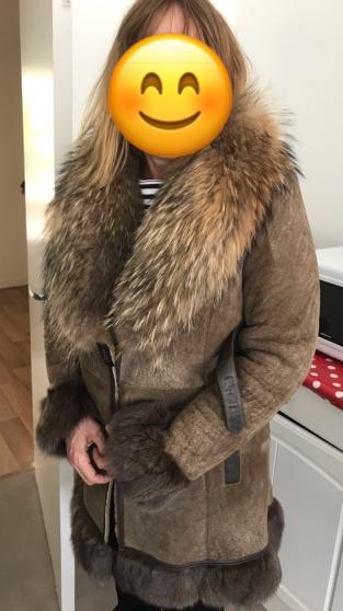 Manteau fourrure Agneau et renard