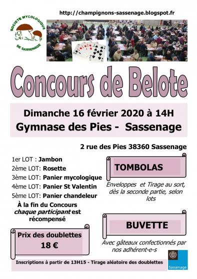 Annonce occasion, vente ou achat 'Concours de belote 16 février 2020 à 14H'