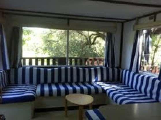 calme mobil home gde terrasse piscine