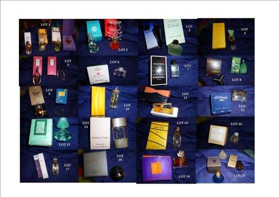 Lot mignonettes parfums pleins + boites