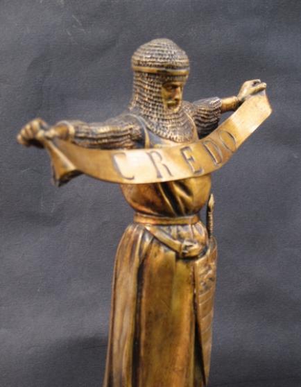 Chevalier en Terre Sainte.Fremiet.Bronze