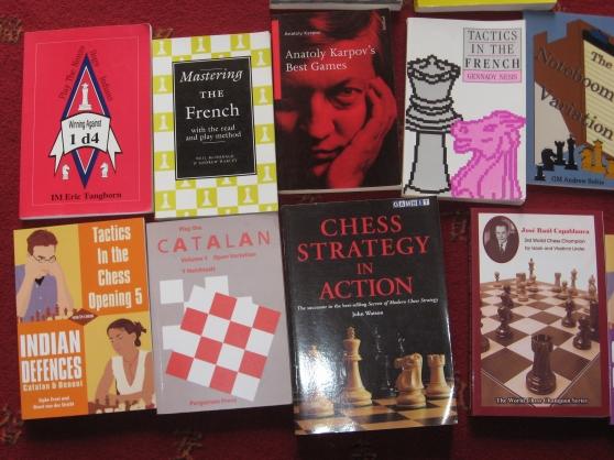 Lot de 13 livres la stratégie des échecs