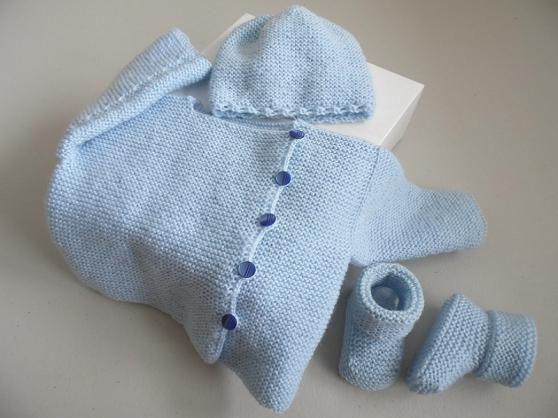 Tricot bébé, tricot laine fait main