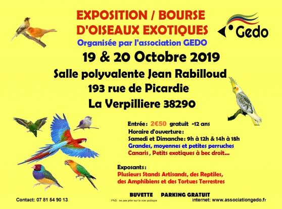Annonce occasion, vente ou achat 'EXPOSITION BOURSE OISEAUX EXOTIQUES'
