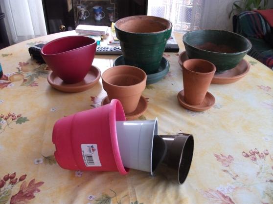 lots 5 pots terre cuite avec soucoupes à niort - Annonce gratuite marche.fr