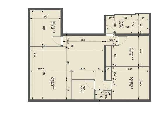 Appartement T5 Salon Centre