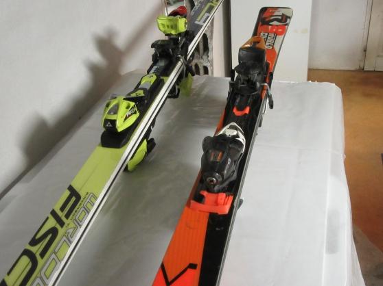 Skis Fischer et Rossignol