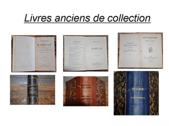 Annonce occasion, vente ou achat 'LIVRES ANCIENS'