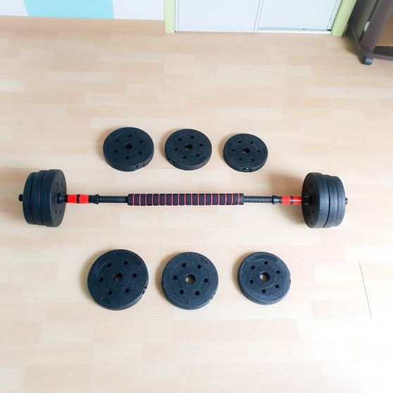 Haltères 20 kg avec une barre - Photo 3