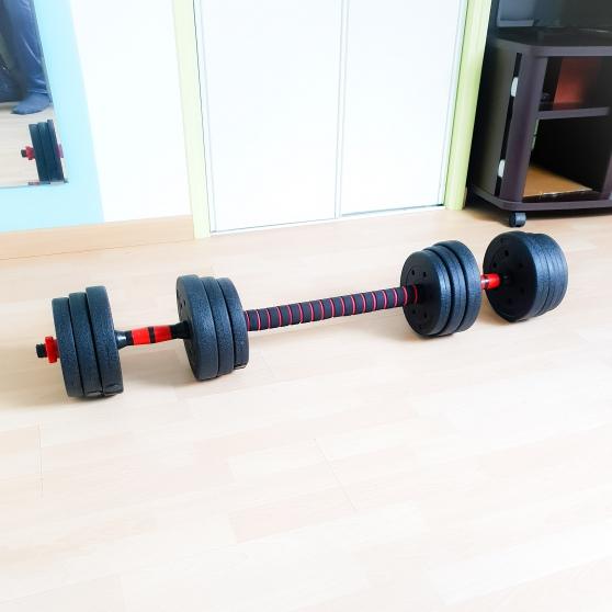 Haltères 20 kg avec une barre - Photo 4