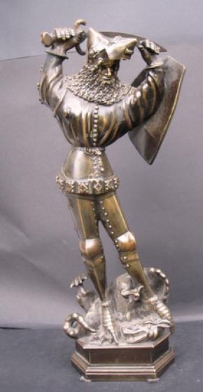 Chevalier de la Toison d'or.Bronze.