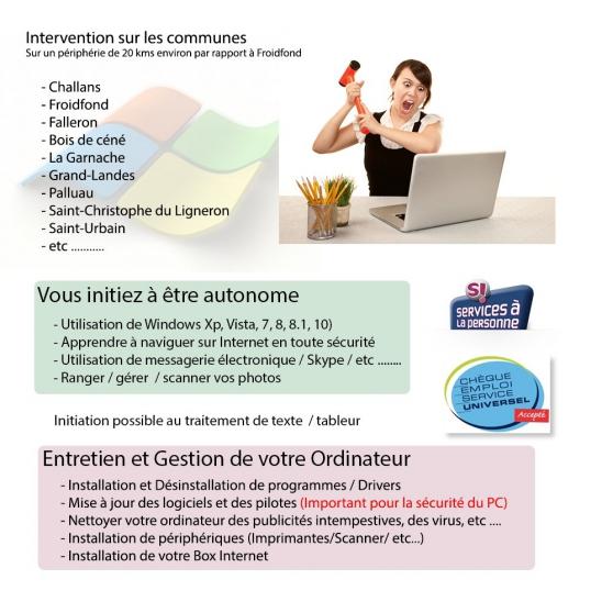 Annonce occasion, vente ou achat 'Cours Informatiques - Aides -Maintenance'