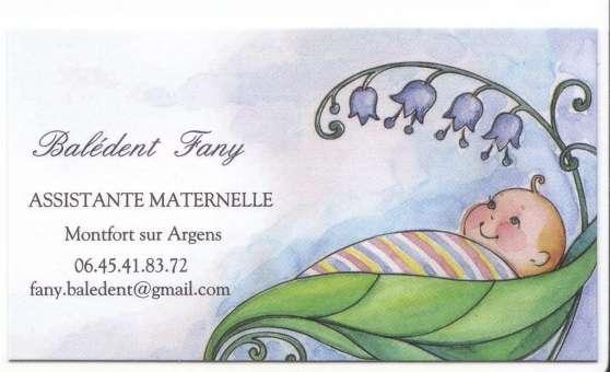 Annonce occasion, vente ou achat 'Assistante Maternelle agréée sur Montfor'
