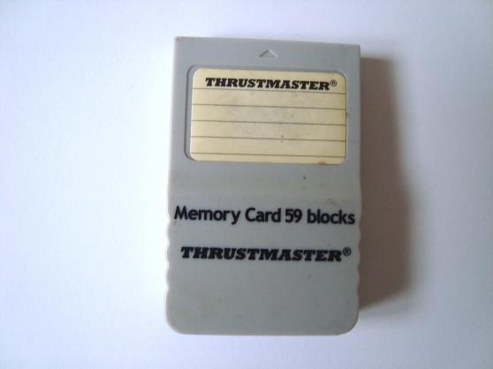 carte mémoire thrustmaster 4mb- 59 block - Annonce gratuite marche.fr