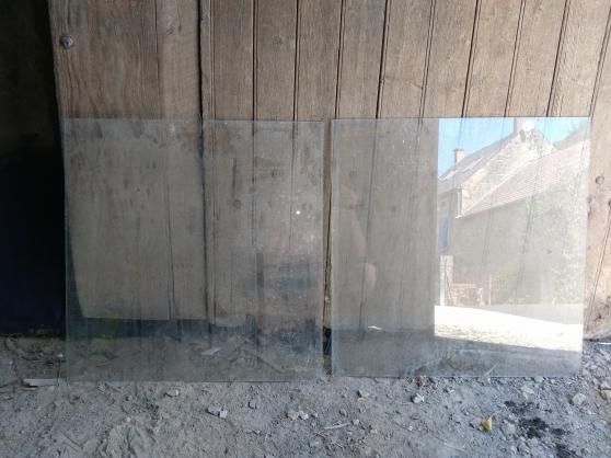 2 vitres - carreaux en verre (neuf)