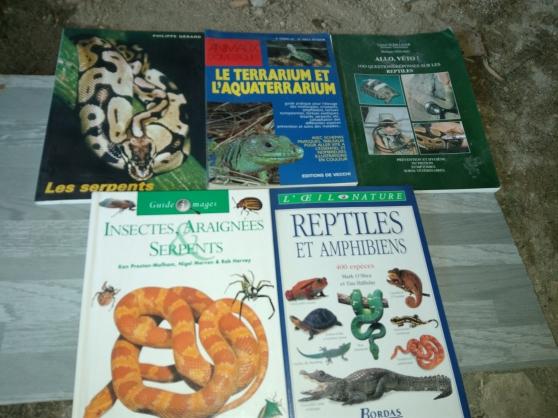 Annonce occasion, vente ou achat 'Lot de 5 livres Reptiles,Insectes,Terrar'