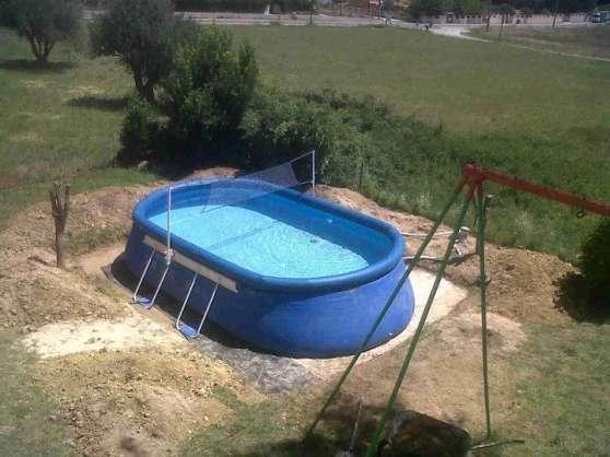 Piscine autoportante ovale al s jardin nature piscine - Piscine autoportante ovale ...