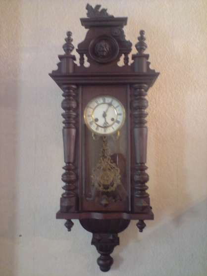 vends ancienne pendule murale antiquit art brocantes pendules coutiches reference ant. Black Bedroom Furniture Sets. Home Design Ideas