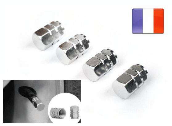 4 Bonchons de valve aluminium Jantes alu