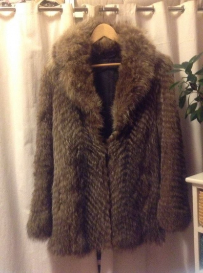 Manteau fourrure de marmotte
