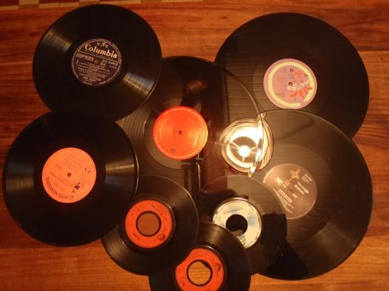 lots de disques vinyl déco, mariage, évè