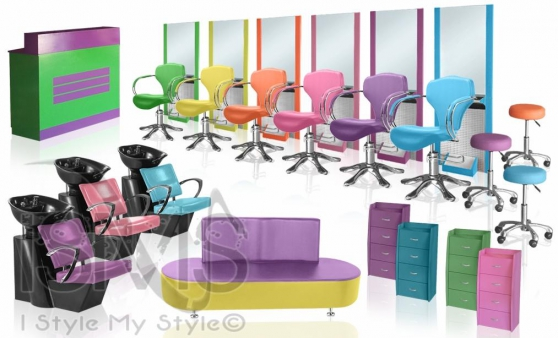 mobilier coiffure pas cher rainbow set professionnels. Black Bedroom Furniture Sets. Home Design Ideas