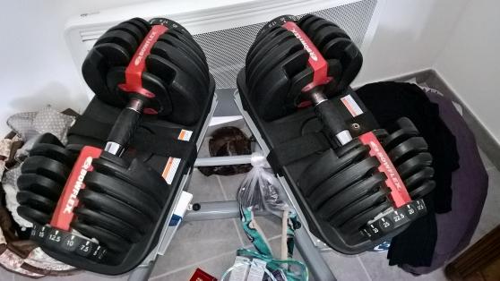 set complet halteres bowflex 552i 2x27 k