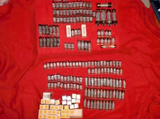 Lot de 207 Tubes ECC83/ECC82/EL34/ECC801
