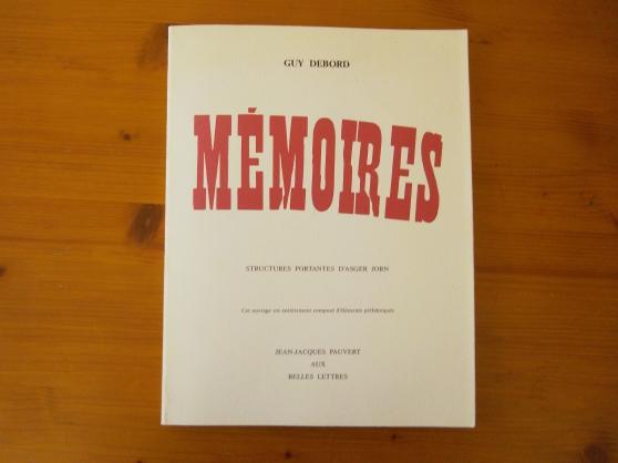 GUY DEBORD MÉMOIRES 1993