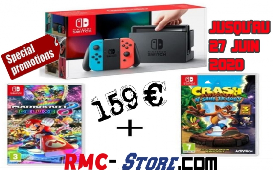 Annonce occasion, vente ou achat 'Pack Nintendo Switch Néon'