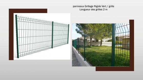 Annonce occasion, vente ou achat 'panneaux Grillage Rigide Vert'
