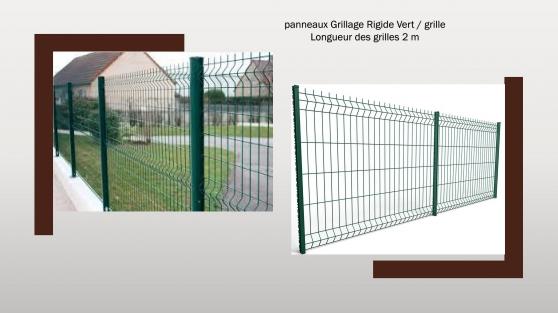 panneaux Grillage Rigide Vert - Photo 2